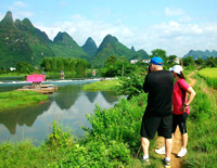 Hiking along Yulong River