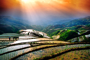 Longji Terrace hiking