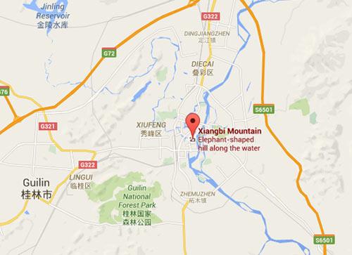 Elephant Trunk Hill Landmark Of Guilin Landscape