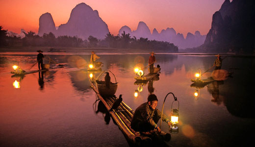 Cormorant Fishing Show in Li River