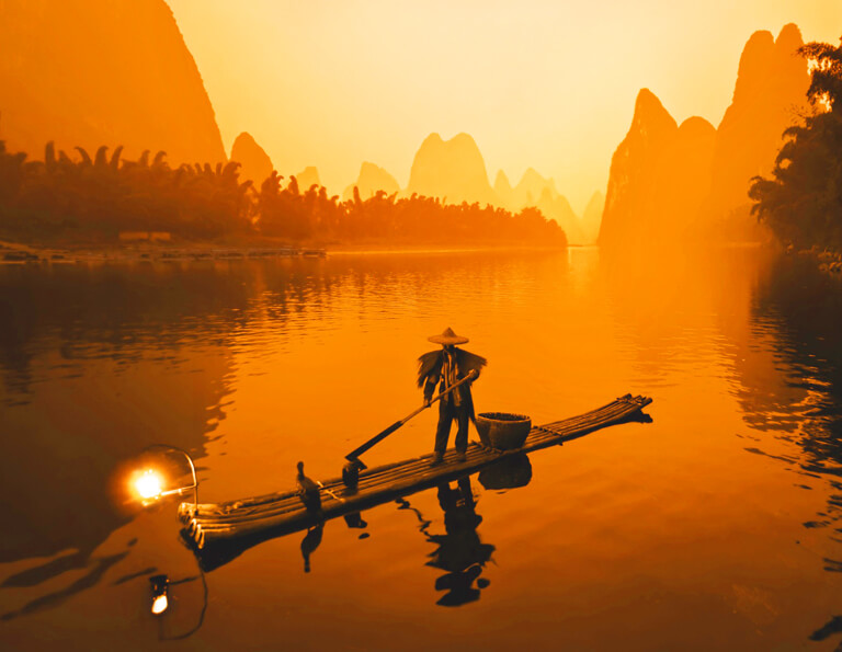 Guilin Li River Fisherman