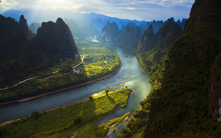 Panoramic Views of Beautiful Li River