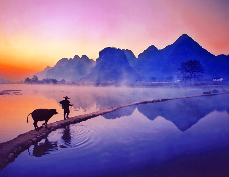Li River Sunset Scene