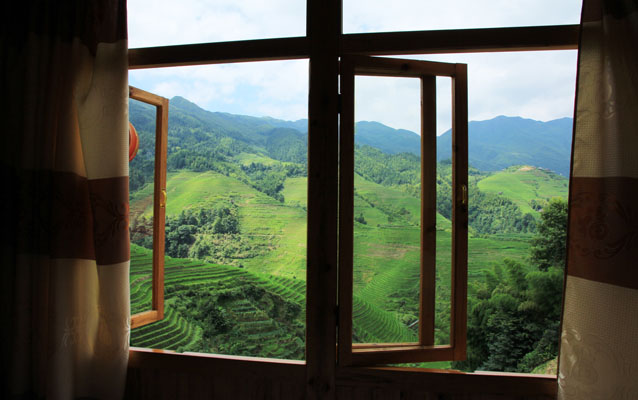 Enjoy Longji Rice Terrace from Hotel Window
