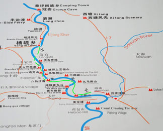 Map of Li River