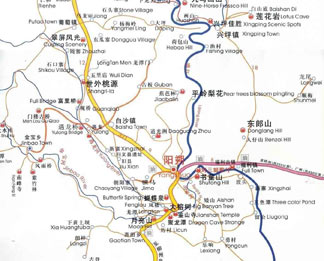 Yangshuo Scenic Map