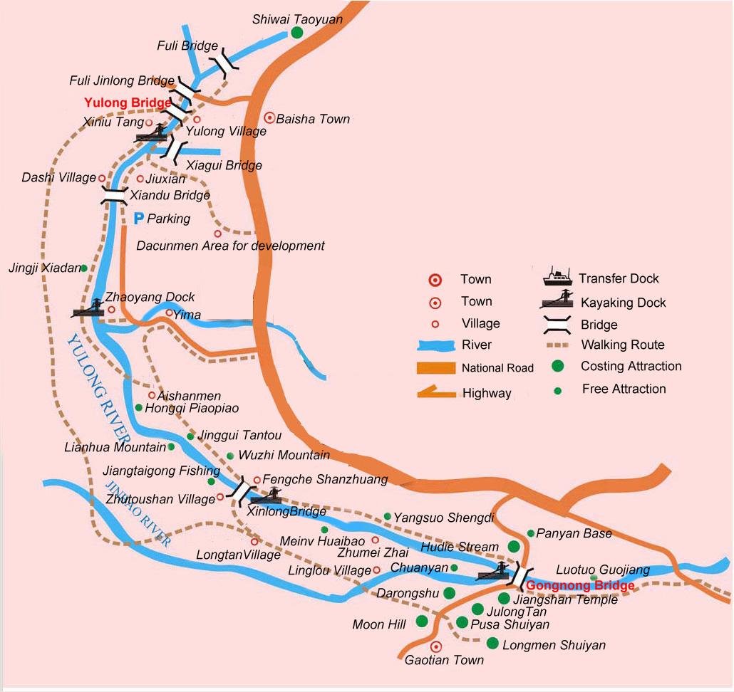 yangshuo hiking route, guilin tours with yangshuo walking
