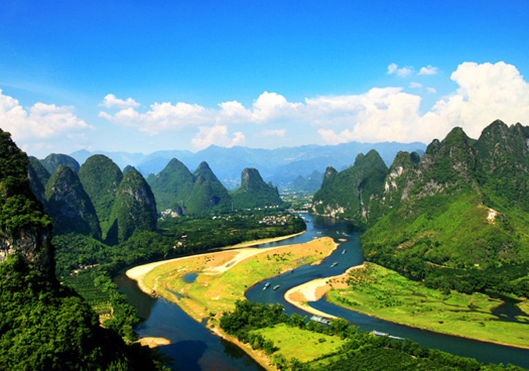 Idyllic Landscape in Guilin