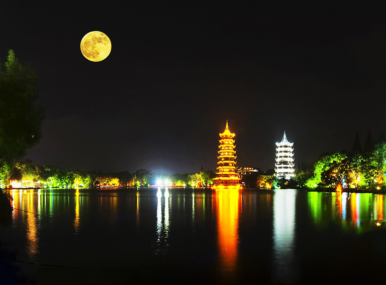 Sun and Moon Pagodas