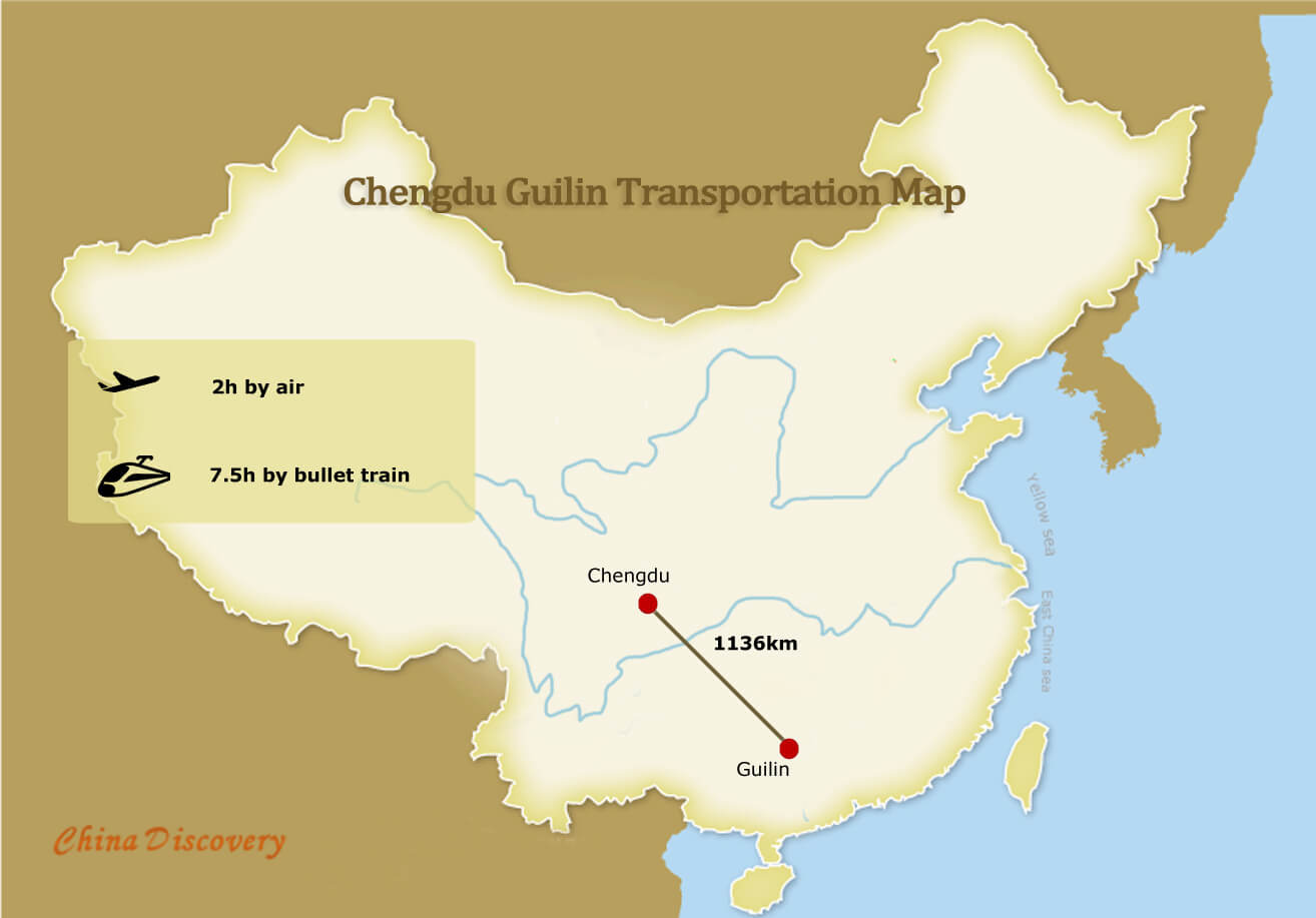 Chengdu to Guilin & Guilin to Chengdu