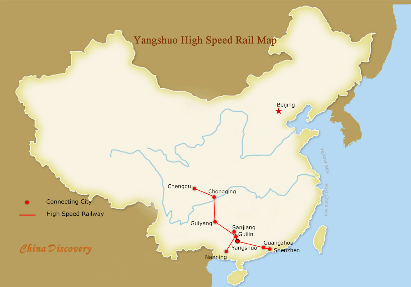 Yangshuo High Speed Rail Map