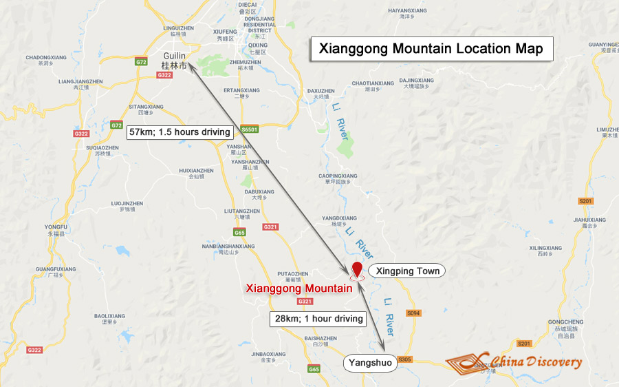 Xianggong Mountain Map