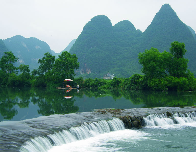 Relaxing Bamboo Rafting at Yulong River