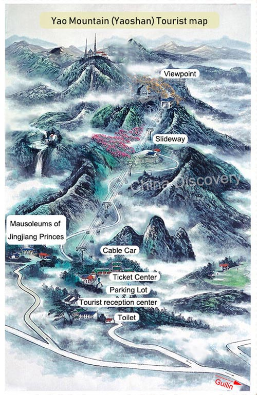 Yao Mountain Tourist Map