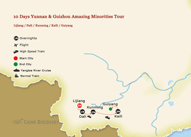 10 Days Yunnan & Guizhou Minorities Tour