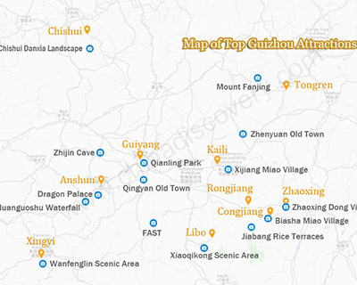 Map of Guizhou Attractions