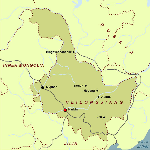 Maps of harbin detailed and downloadable map of heilongjiang province with harbin gumiabroncs Choice Image