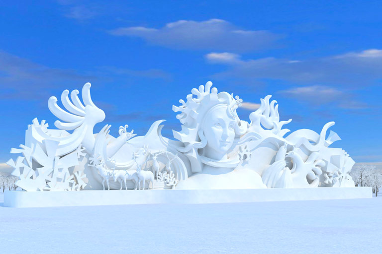 Snow Sculpture Art Exposition