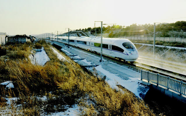 High Speed Bullet Train to Harbin