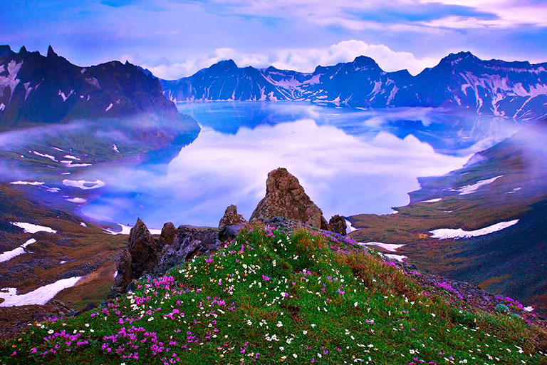 Changbai Mountain Heavenly Lake Summer View