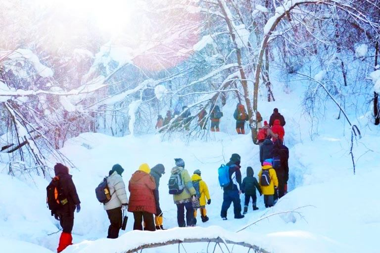China Snow Valley Winter Hiking