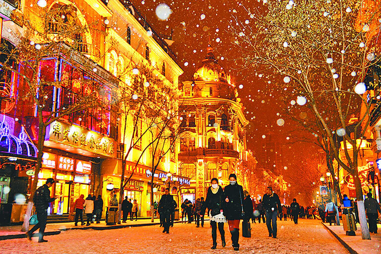 Harbin Zhongyang Pedestrian Street Night View