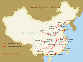 Changsha High Speed Trains Map