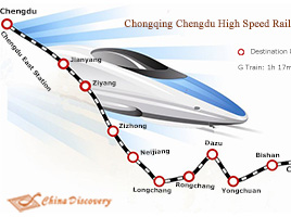 Chongqing Chengdu High Speed Railway Map