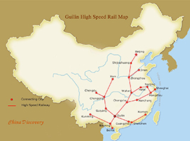 Guilin High Speed Trains Map