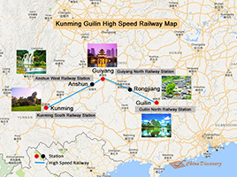 Kunming Guilin High Speed Railway Map