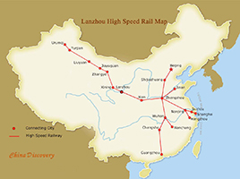 Lanzhou High Speed Trains Map