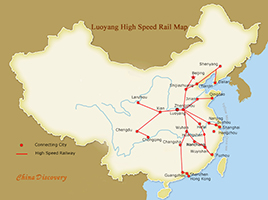 Luoyang High Speed Trains Map