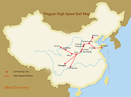 Pingyao High Speed Trains Map