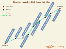 Shanghai Hangzhou High Speed Railway Map