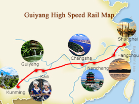 Shanghai Kunming High Speed Railway Map