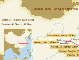 Shanghai Xian High Speed Railway Map