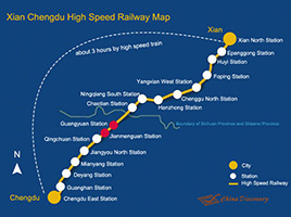 Xian Chengdu High Speed Railway Map