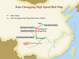 Xian Kunming High Speed Railway Map