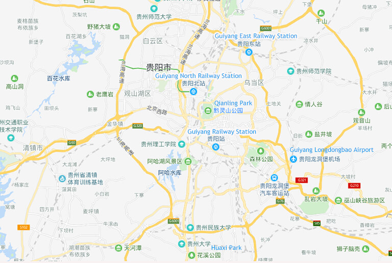Guiyang East Railway Station Location Map