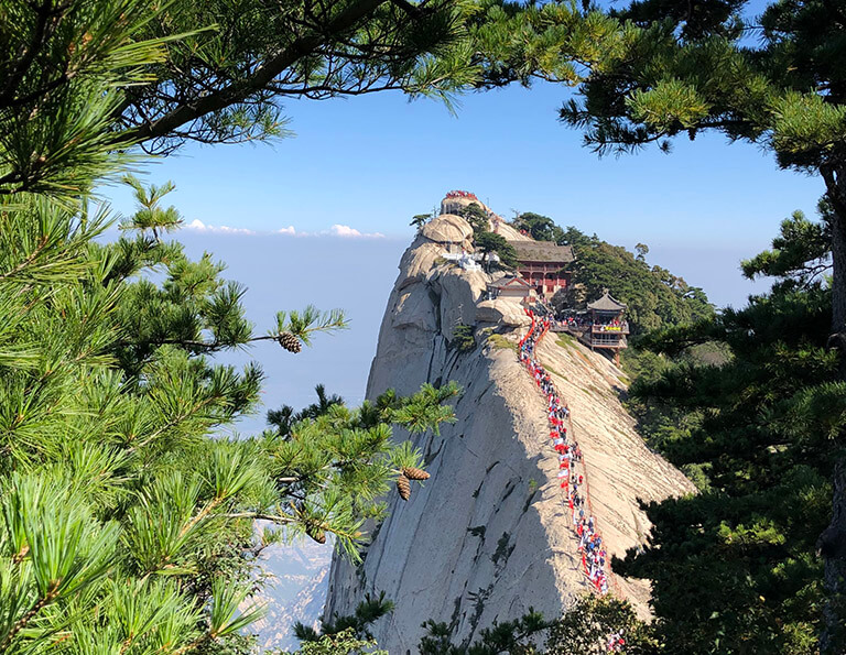 Looking West Peak from South Peak on Huashan