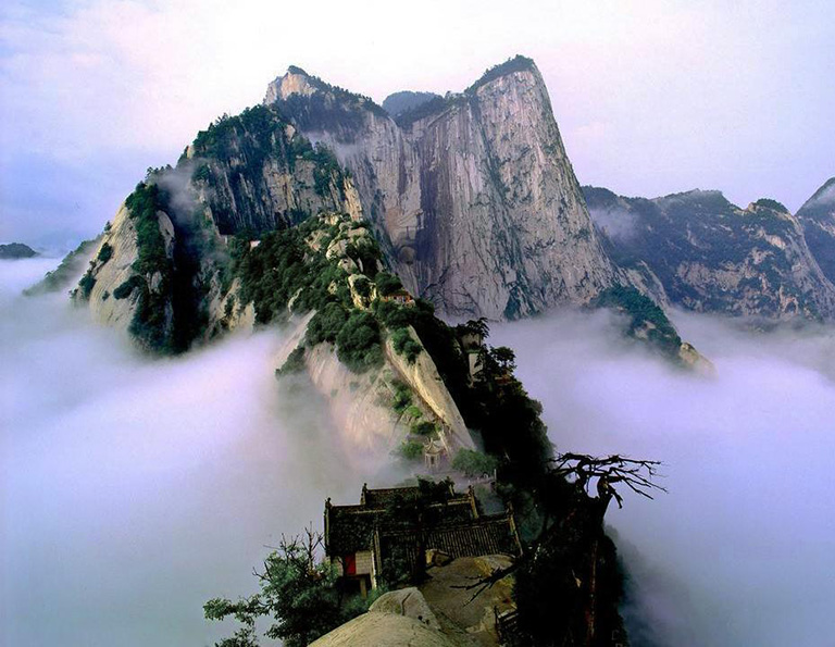 Mount Hua in misty days - view from North Peak