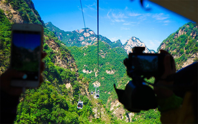 West Peak Cableway on Mount Hua