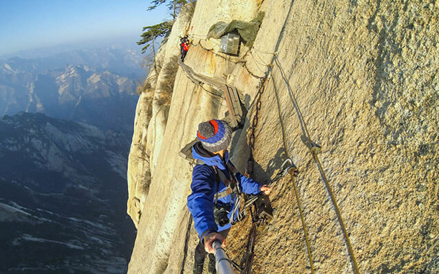 The thrilling Plank Road in the Sky on Mount Hua