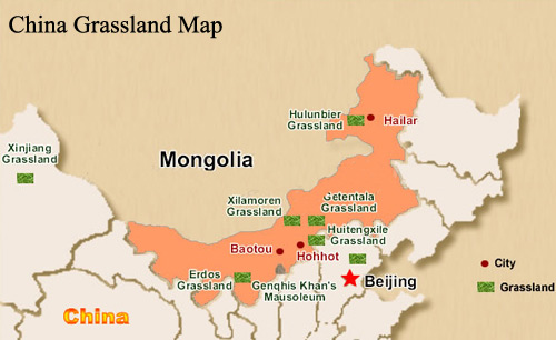 Hulunbuir Tours Hulunbuir Grassland Travel Transportation Map - Manzhouli map