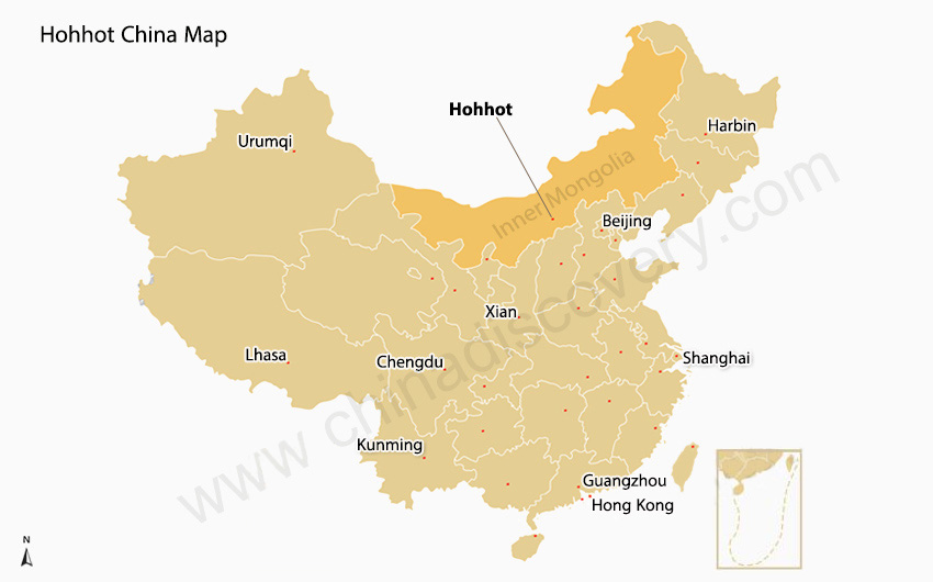 Hohhot China Map
