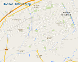 Hohhot City Map