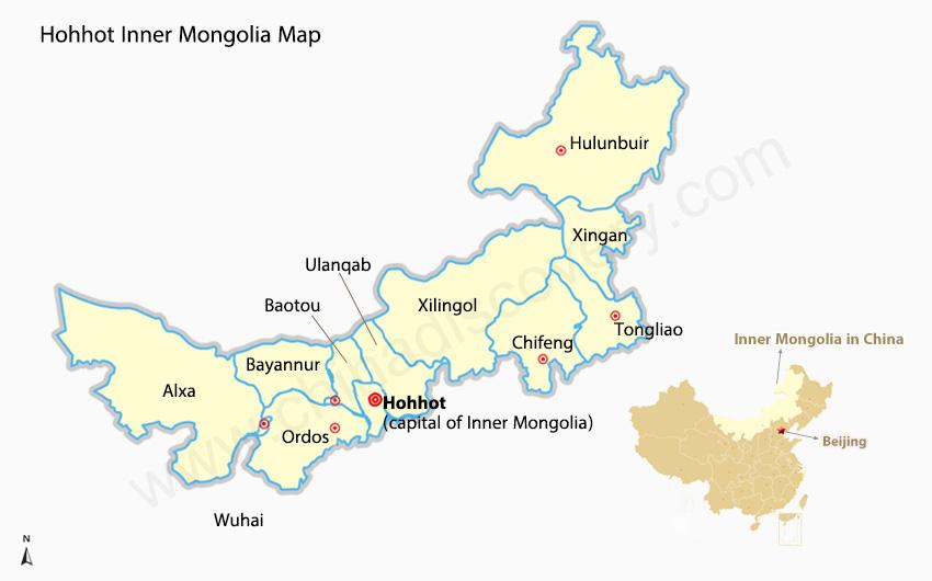 Hohhot China  city photos : Hohhot Map: Hohhot China Map, Hohhot Inner Mongolia Map