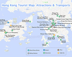 Hong kong map hong kong tourist map hong kong macau map hong kong attraction map publicscrutiny Images