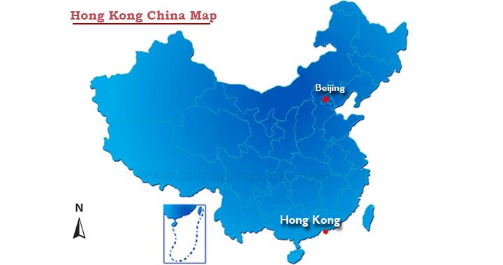 china hong kong map Hong Kong China Map Where Is Hong Kong On A Map Of China china hong kong map