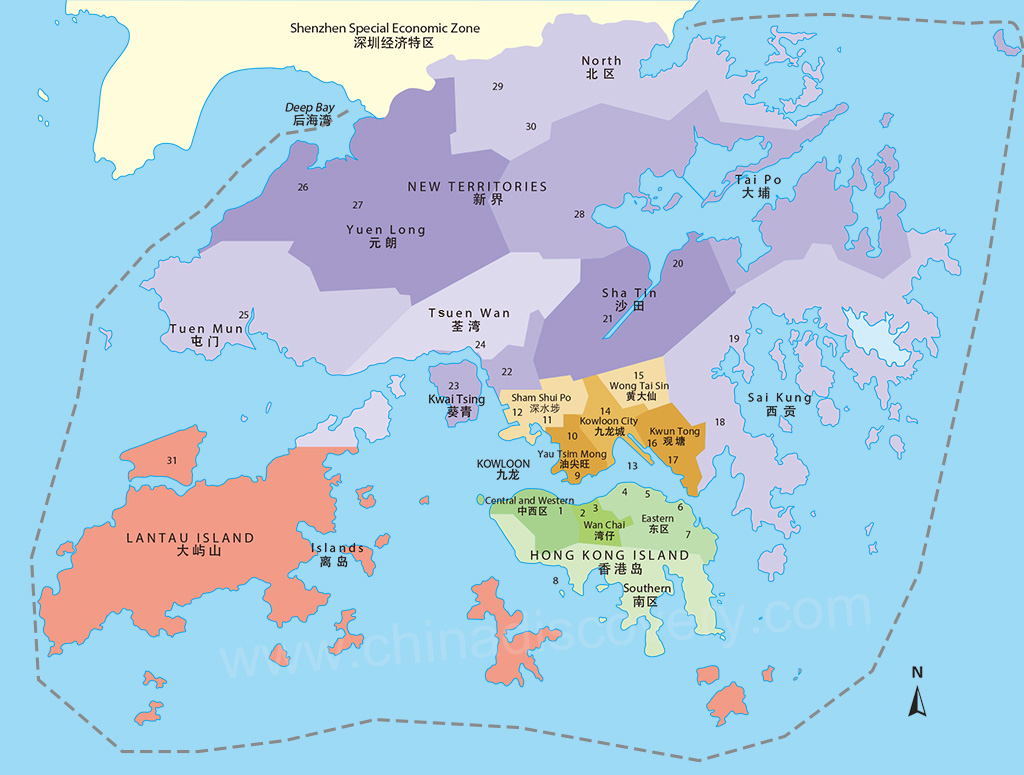 Hong Kong Map Hong Kong Tourist Map Hong Kong Macau Map